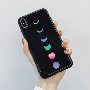 NEW iPhone 11/Pro/Max/XR/XS/8/Plus Laser Moon Case